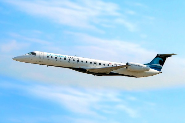 California Pacific Airlines Embraer ERJ-145 In the Air